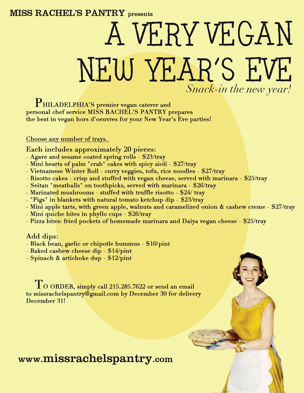 Miss Rachel S Pantry New Years Vegan Style Order From A